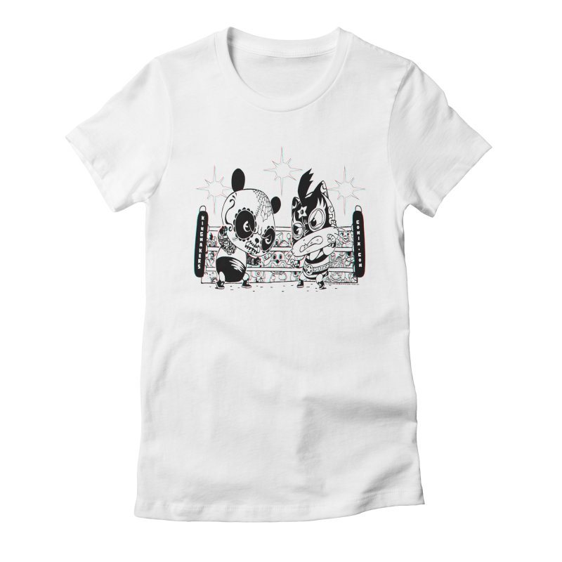 Panda Kid Vs. Mikey Women's T-Shirt by KINGMAKERS's Artist Shop