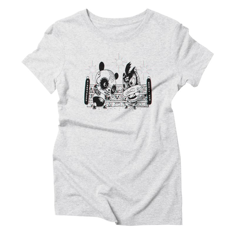 Panda Kid Vs. Mikey Women's Triblend T-Shirt by KINGMAKERS's Artist Shop