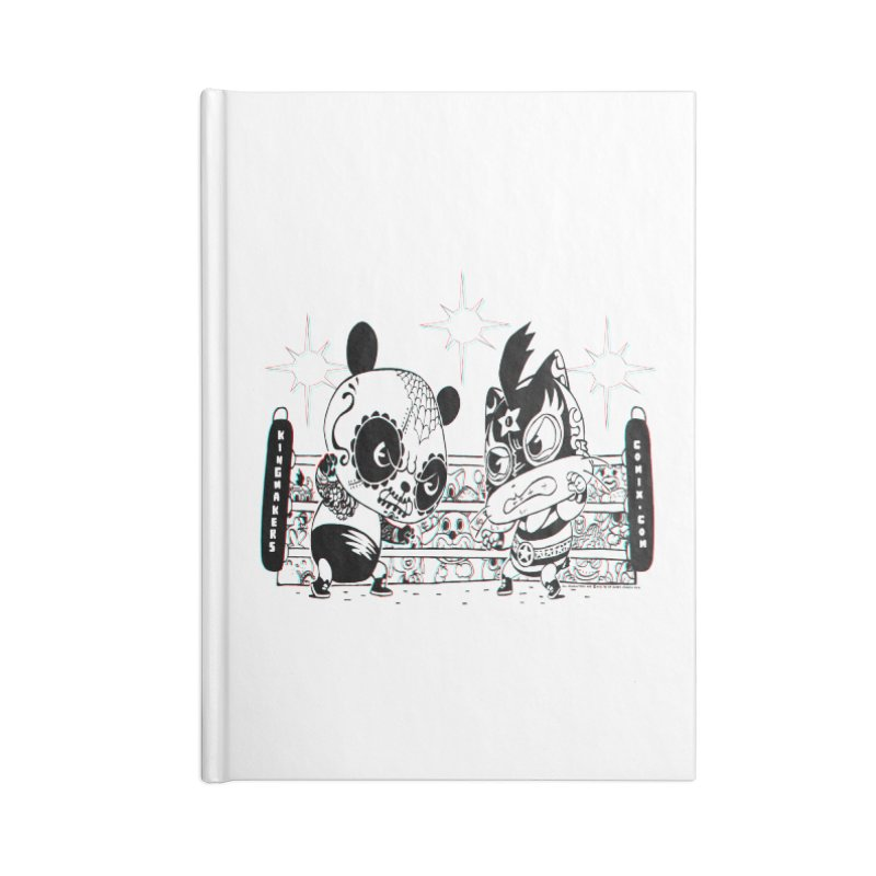 Panda Kid Vs. Mikey Accessories Lined Journal Notebook by KINGMAKERS's Artist Shop