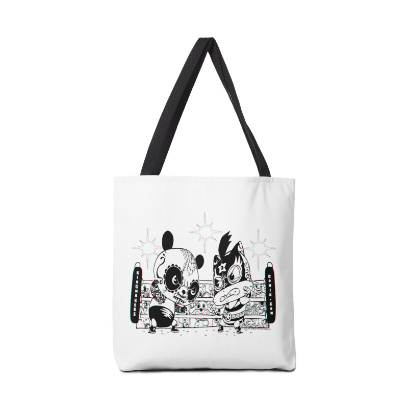 Panda Kid Vs. Mikey Accessories Tote Bag Bag by KINGMAKERS's Artist Shop