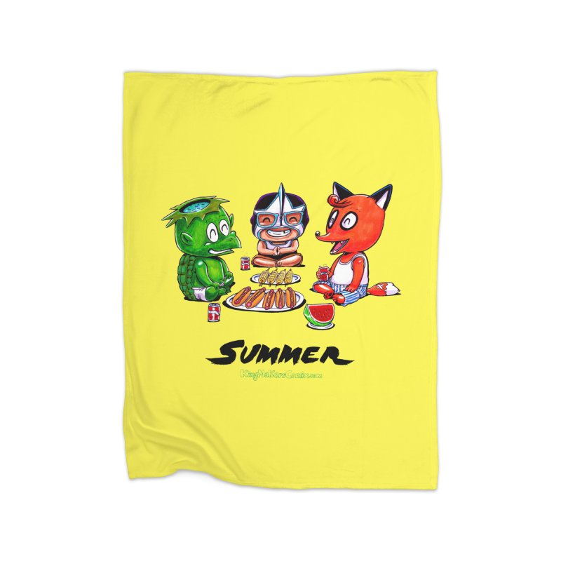 a KingMakers Summer! Home Fleece Blanket by KINGMAKERS's Artist Shop