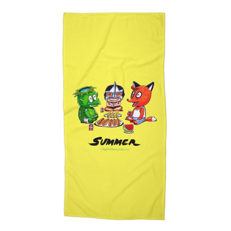 a KingMakers Summer! Accessories Beach Towel by KINGMAKERS's Artist Shop