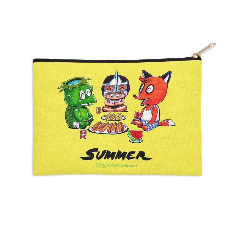 a KingMakers Summer! Accessories Zip Pouch by KINGMAKERS's Artist Shop