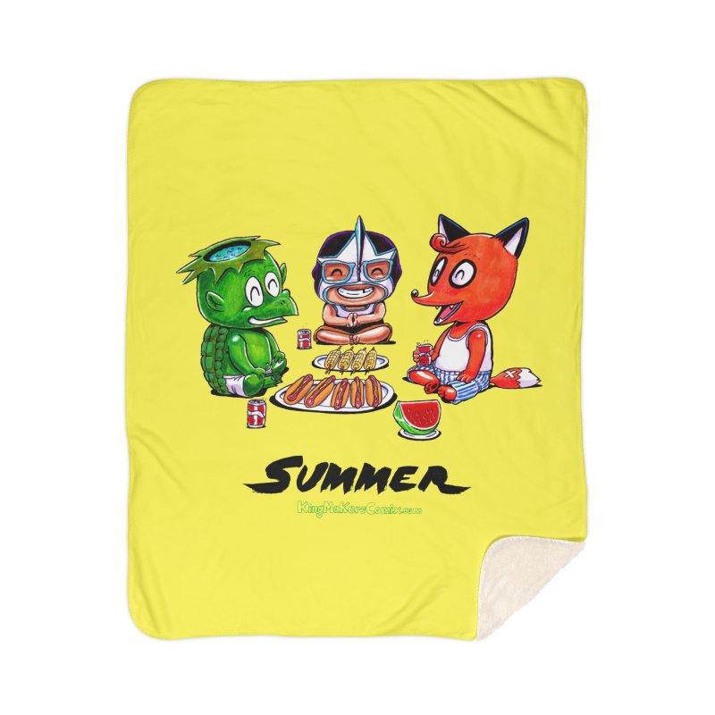 a KingMakers Summer! Home Sherpa Blanket Blanket by KINGMAKERS's Artist Shop