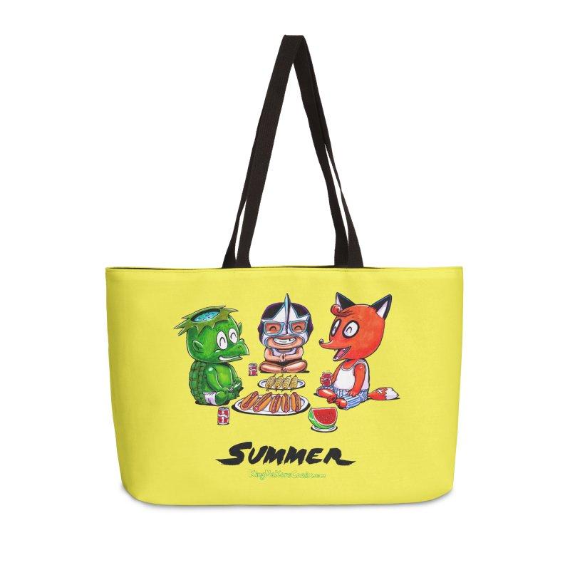 a KingMakers Summer! Accessories Weekender Bag Bag by KINGMAKERS's Artist Shop