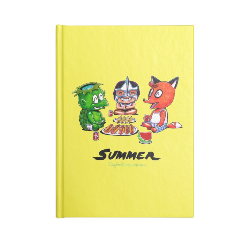 a KingMakers Summer! Accessories Lined Journal Notebook by KINGMAKERS's Artist Shop