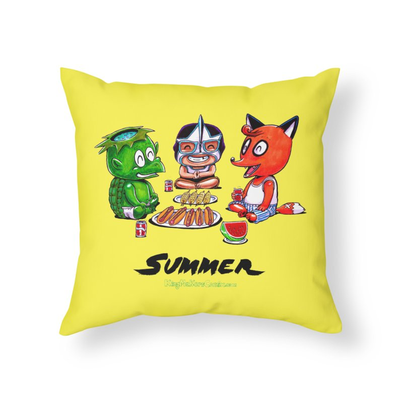 a KingMakers Summer! Home Throw Pillow by KINGMAKERS's Artist Shop