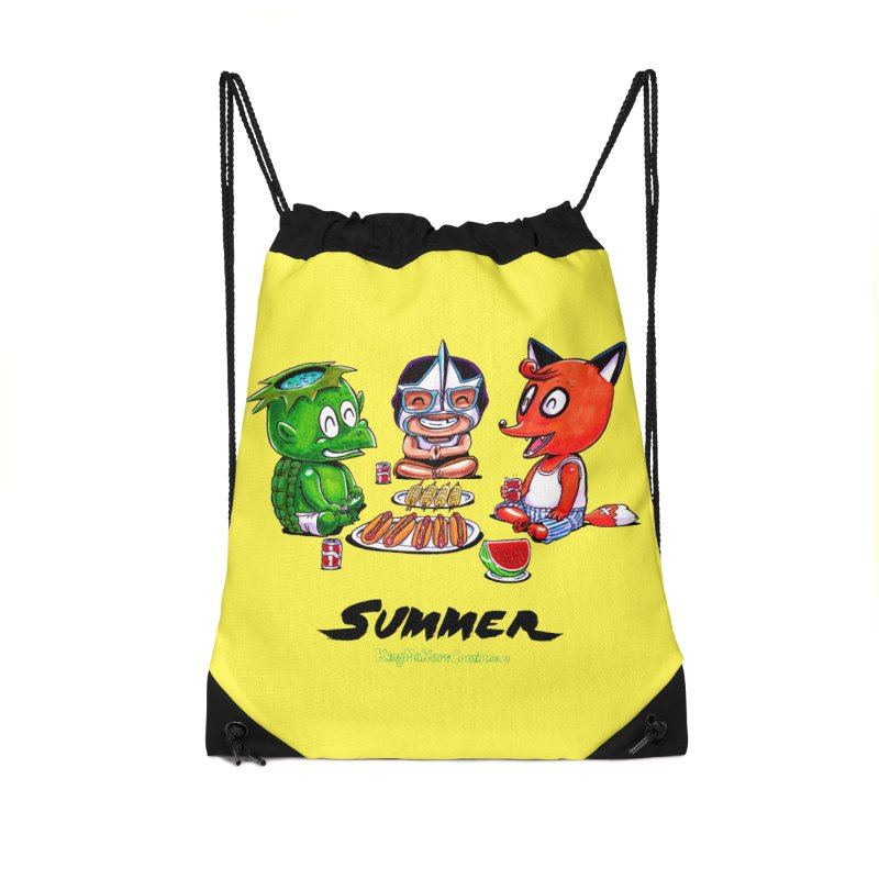 a KingMakers Summer! Accessories Drawstring Bag Bag by KINGMAKERS's Artist Shop