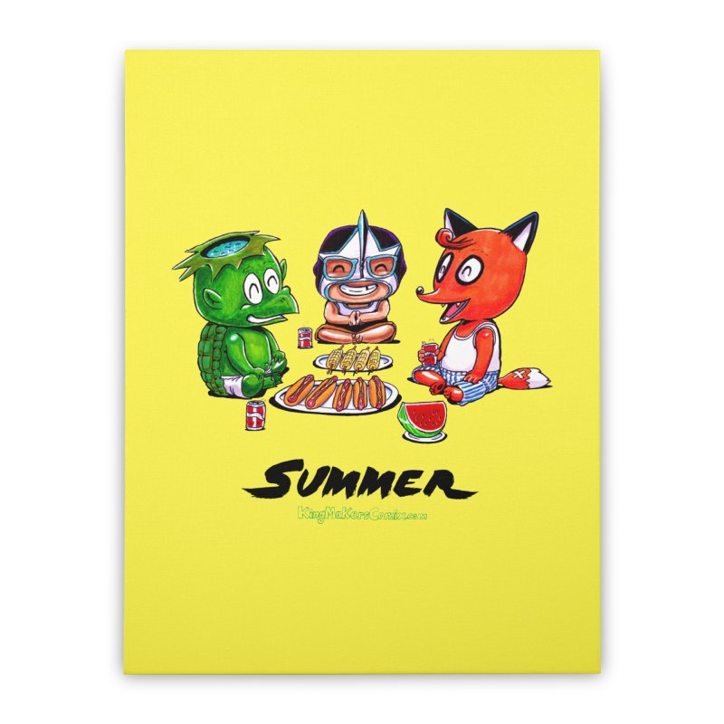 a KingMakers Summer! Home Stretched Canvas by KINGMAKERS's Artist Shop