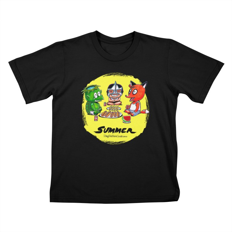 KingMakers Summer sun Kids T-Shirt by KINGMAKERS's Artist Shop
