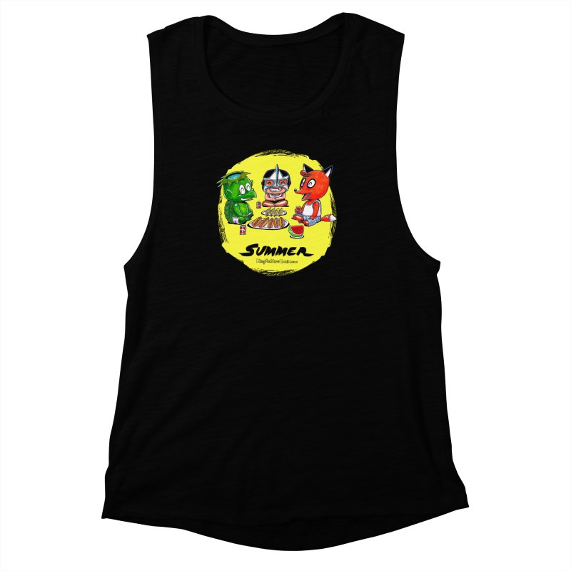 KingMakers Summer sun Women's Muscle Tank by KINGMAKERS's Artist Shop