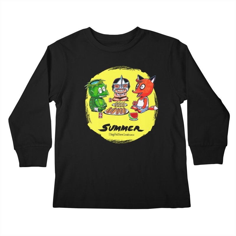 KingMakers Summer sun Kids Longsleeve T-Shirt by KINGMAKERS's Artist Shop