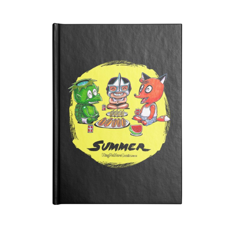 KingMakers Summer sun Accessories Lined Journal Notebook by KINGMAKERS's Artist Shop