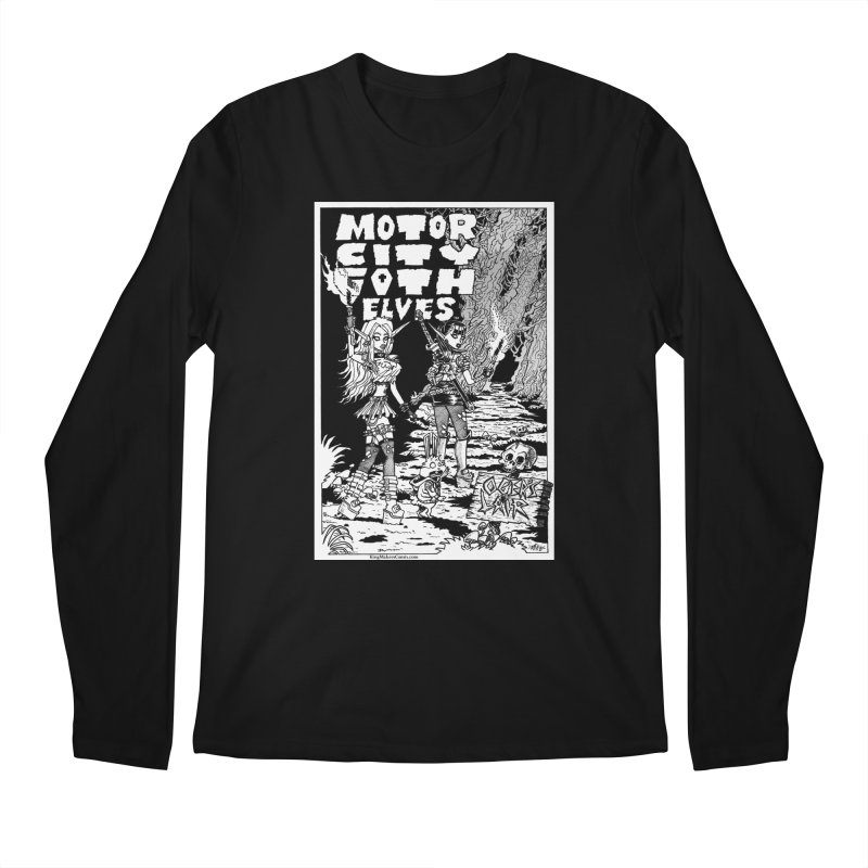 Motor City Goth Elves Men's Longsleeve T-Shirt by KINGMAKERS's Artist Shop