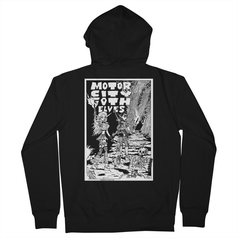 Motor City Goth Elves Women's French Terry Zip-Up Hoody by KINGMAKERS's Artist Shop