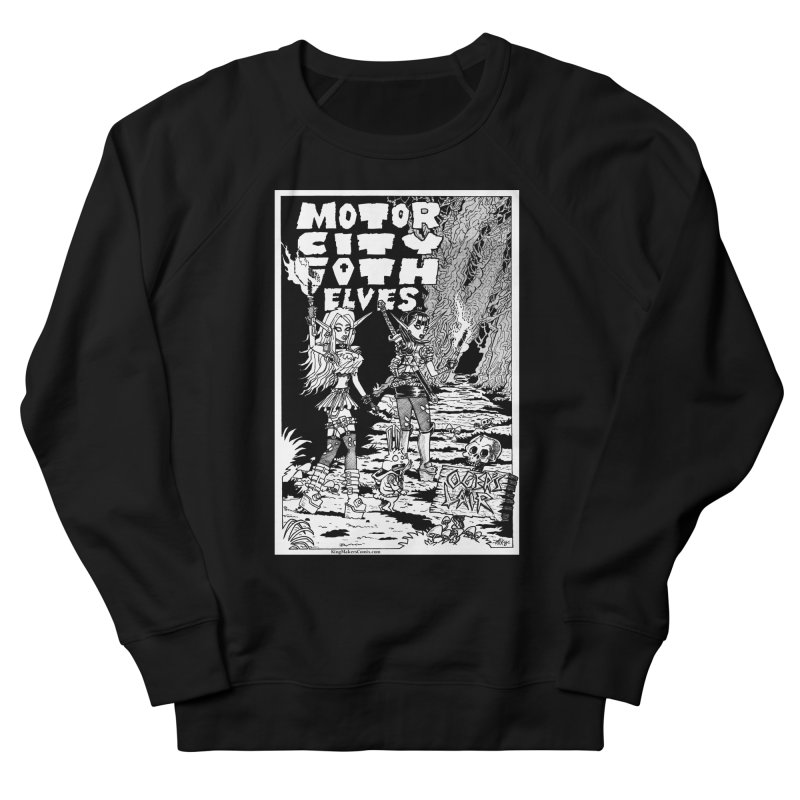 Motor City Goth Elves Women's French Terry Sweatshirt by KINGMAKERS's Artist Shop