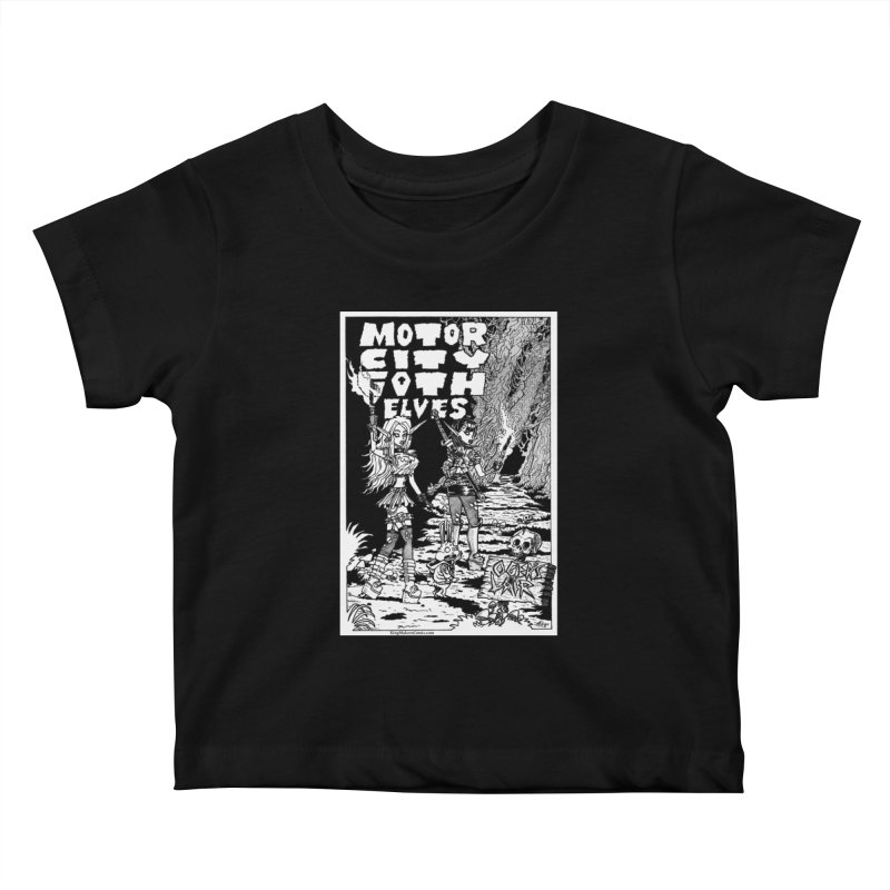 Motor City Goth Elves Kids Baby T-Shirt by KINGMAKERS's Artist Shop
