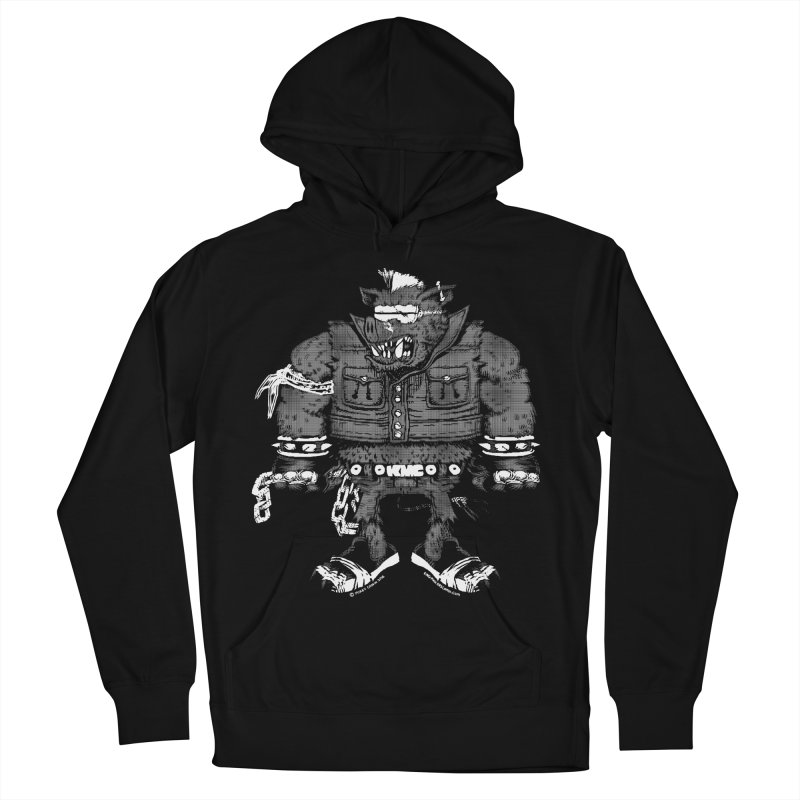 Warhog grey Men's French Terry Pullover Hoody by KINGMAKERS's Artist Shop
