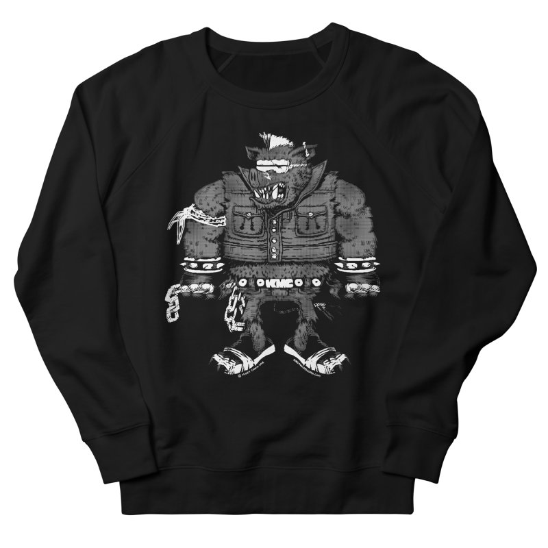 Warhog grey Women's French Terry Sweatshirt by KINGMAKERS's Artist Shop