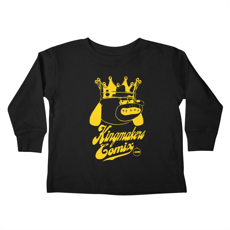 KingMakersComix Gold Kids Toddler Longsleeve T-Shirt by KINGMAKERS's Artist Shop