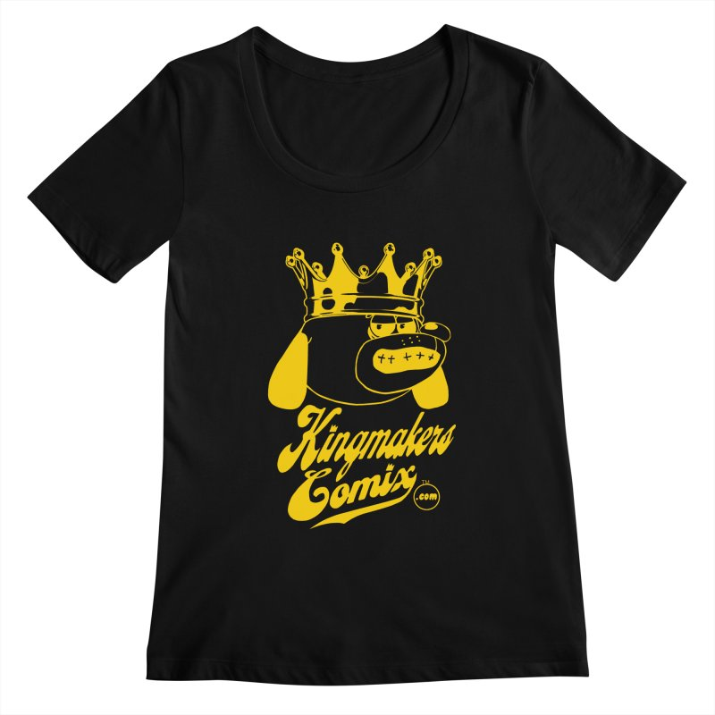KingMakersComix Gold Women's Scoopneck by KINGMAKERS's Artist Shop