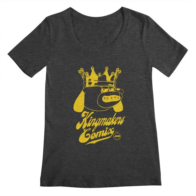 KingMakersComix Gold Women's Regular Scoop Neck by KINGMAKERS's Artist Shop
