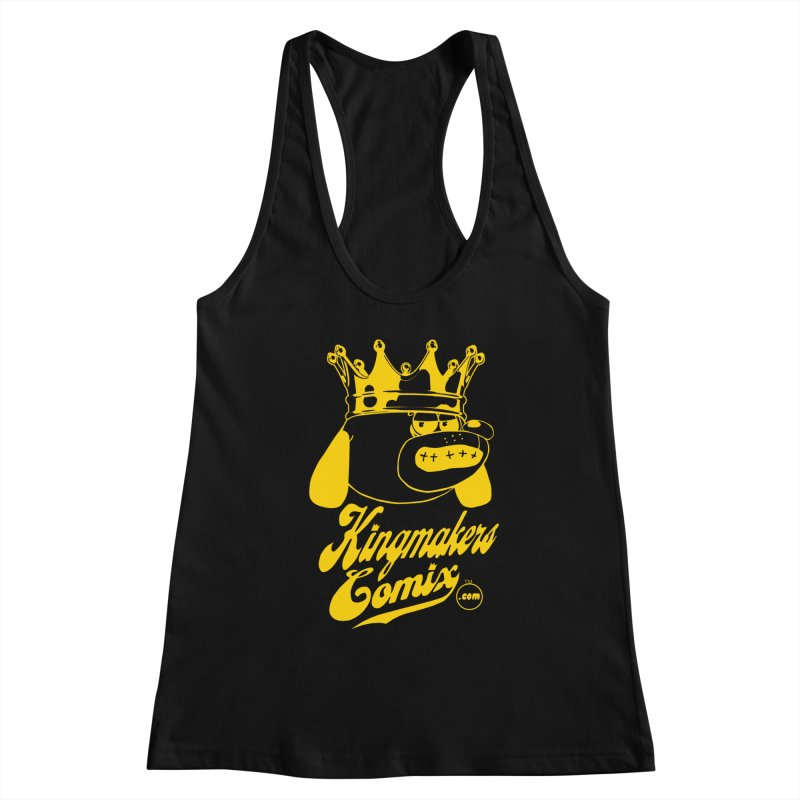 KingMakersComix Gold Women's Racerback Tank by KINGMAKERS's Artist Shop