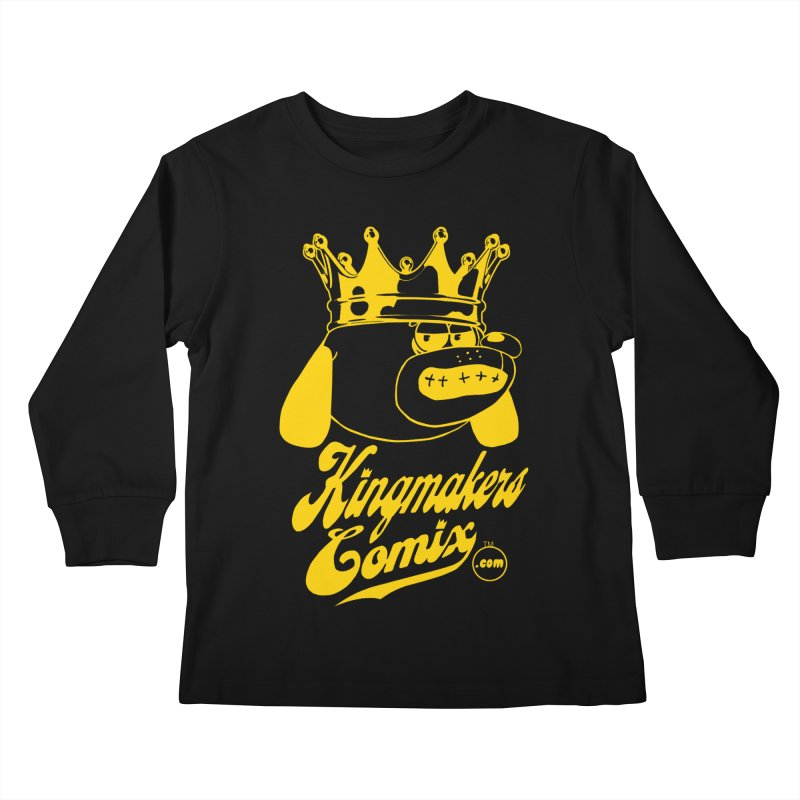 KingMakersComix Gold Kids Longsleeve T-Shirt by KINGMAKERS's Artist Shop