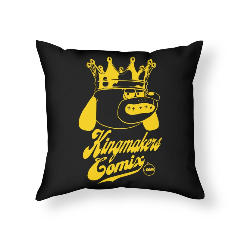 KingMakersComix Gold Home Throw Pillow by KINGMAKERS's Artist Shop
