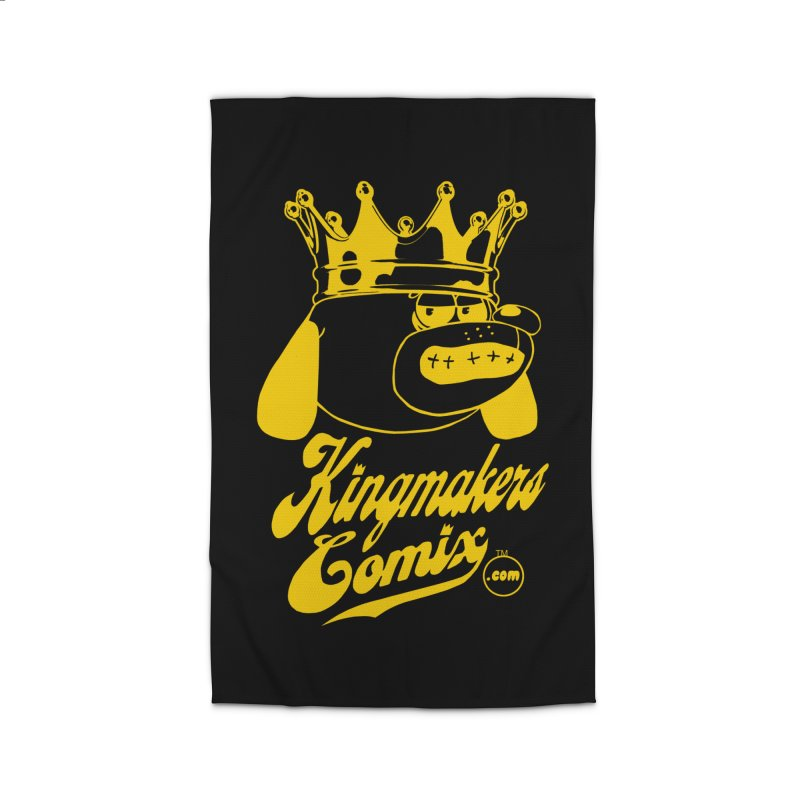 KingMakersComix Gold Home Rug by KINGMAKERS's Artist Shop