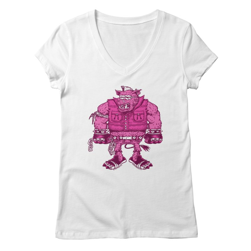 Warhog Women's Regular V-Neck by KINGMAKERS's Artist Shop