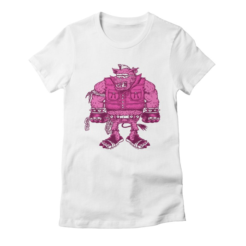 Warhog Women's Fitted T-Shirt by KINGMAKERS's Artist Shop