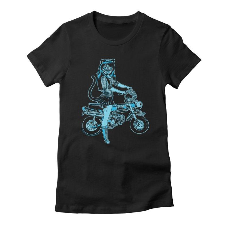 Lucha Biker Black Women's T-Shirt by KINGMAKERS's Artist Shop