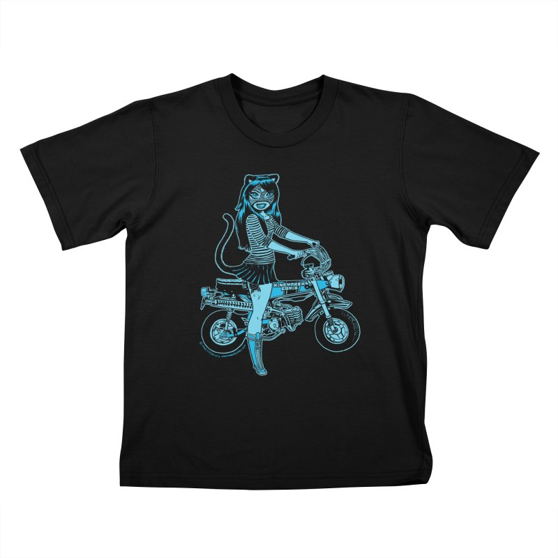 Lucha Biker Black   by KINGMAKERS's Artist Shop