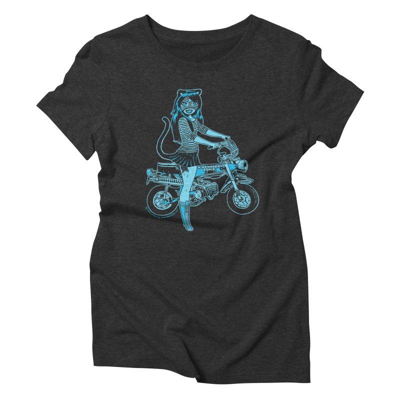 Lucha Biker Black Women's Triblend T-Shirt by KINGMAKERS's Artist Shop
