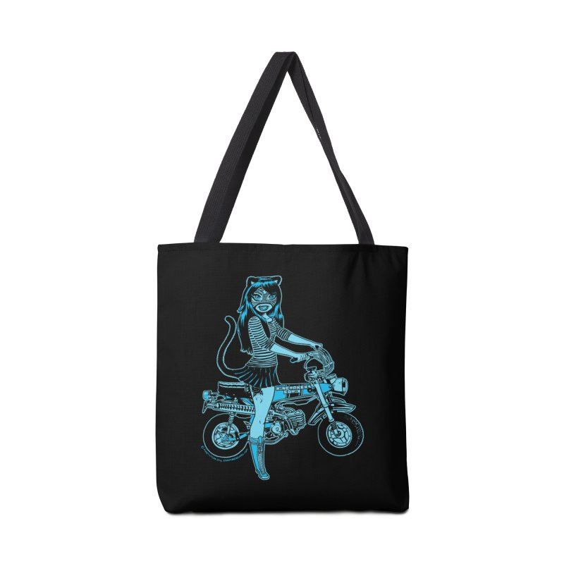 Lucha Biker Black Accessories Tote Bag Bag by KINGMAKERS's Artist Shop