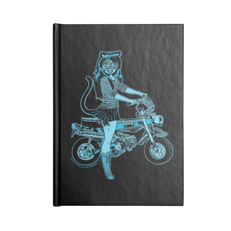 Lucha Biker Black Accessories Lined Journal Notebook by KINGMAKERS's Artist Shop