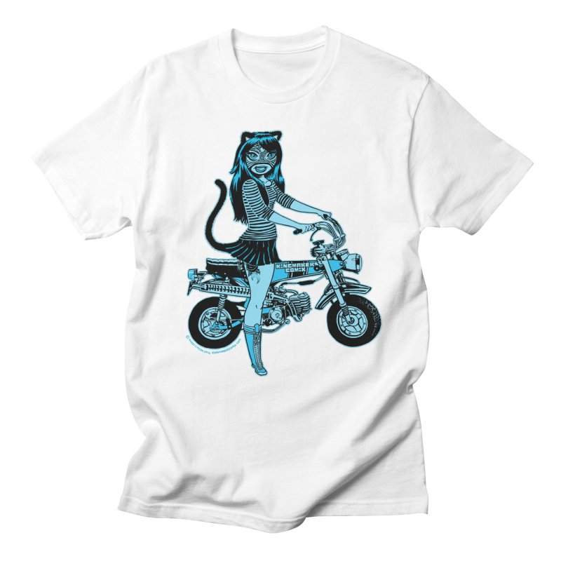 Lucha Biker white Men's T-shirt by KINGMAKERS's Artist Shop
