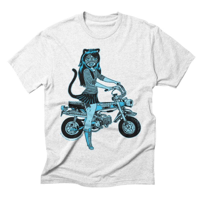 Lucha Biker white Men's Triblend T-shirt by KINGMAKERS's Artist Shop