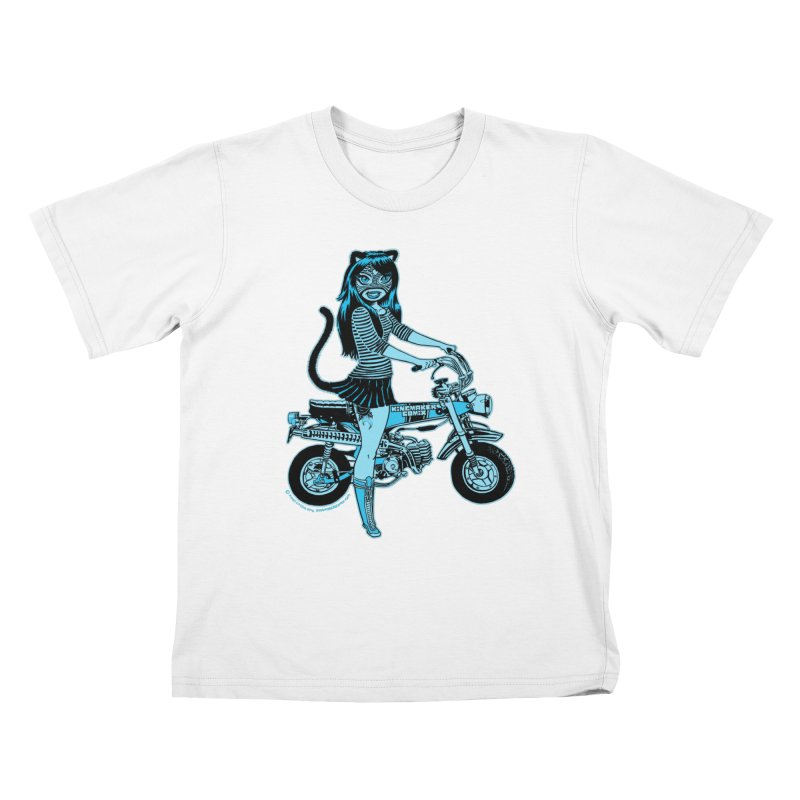 Lucha Biker white   by KINGMAKERS's Artist Shop