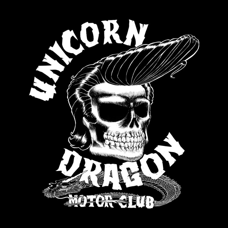Unicorn Dragon Motor Club Men's Longsleeve T-Shirt by KINGMAKERS's Artist Shop