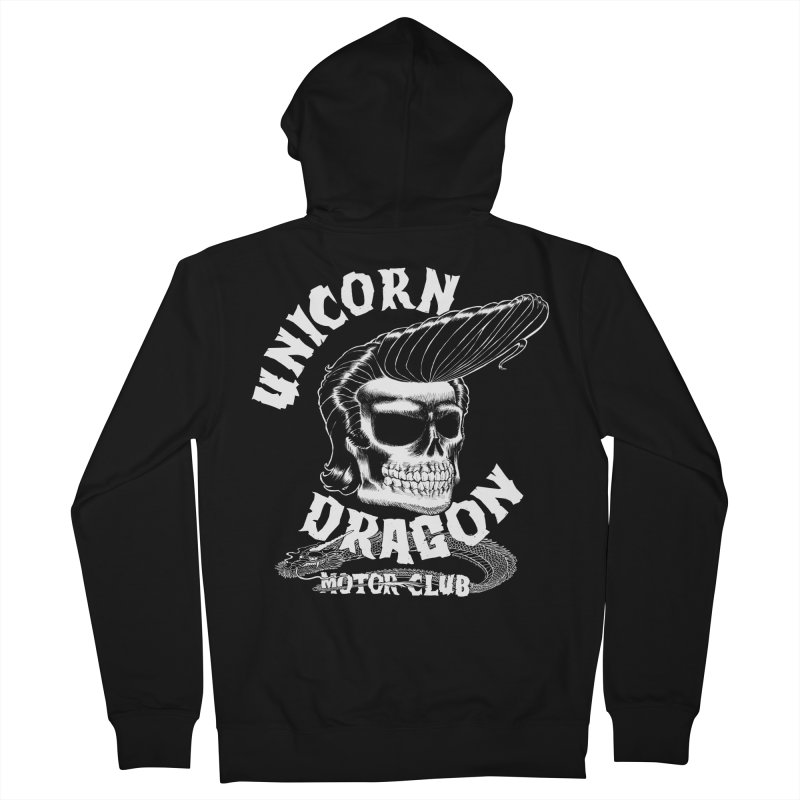 Unicorn Dragon Motor Club Men's Zip-Up Hoody by KINGMAKERS's Artist Shop