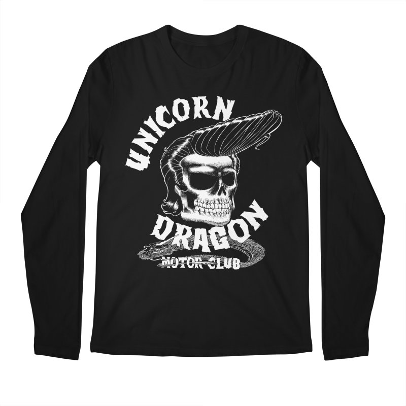 Unicorn Dragon Motor Club Men's Regular Longsleeve T-Shirt by KINGMAKERS's Artist Shop