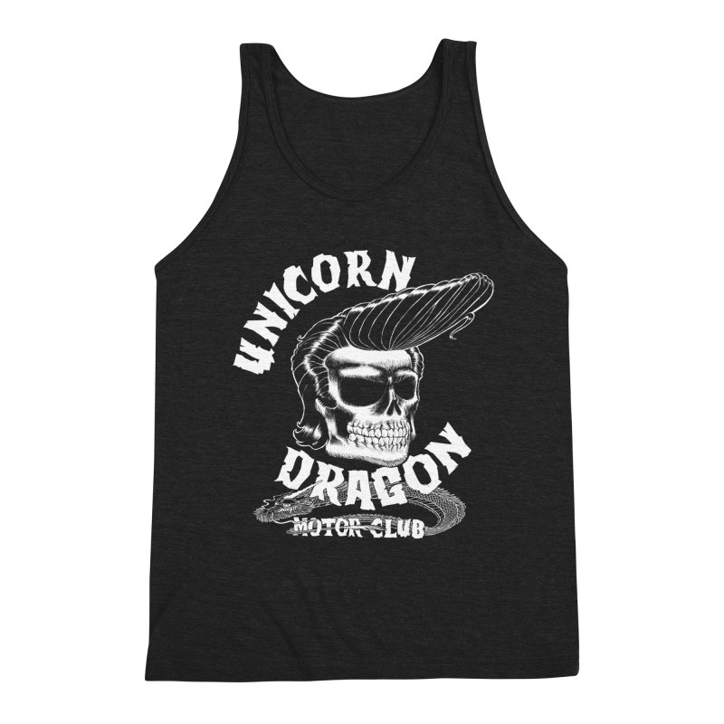 Unicorn Dragon Motor Club Men's Triblend Tank by KINGMAKERS's Artist Shop