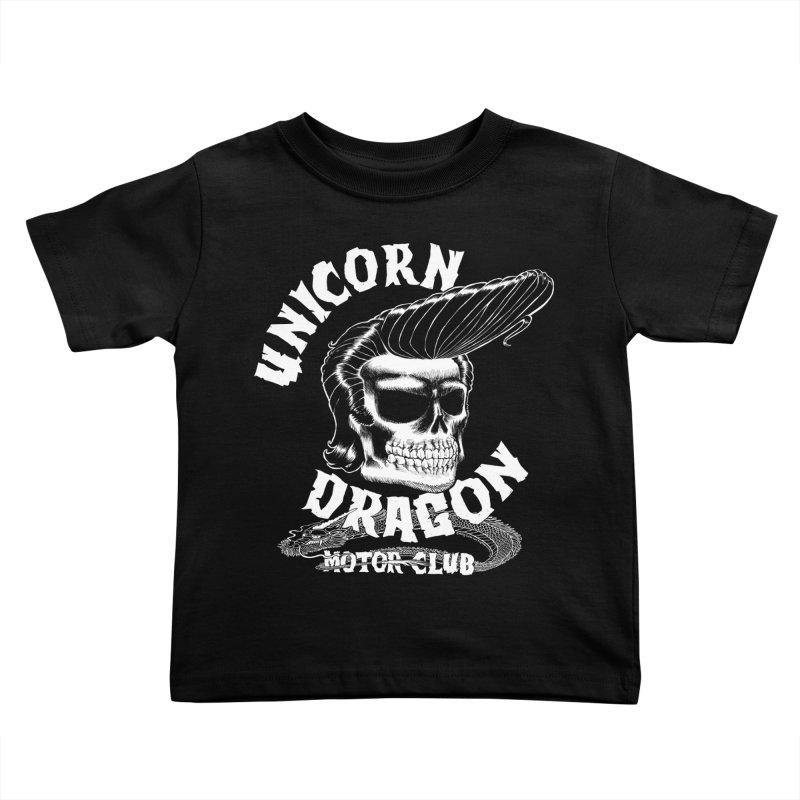 Unicorn Dragon Motor Club Kids Toddler T-Shirt by KINGMAKERS's Artist Shop