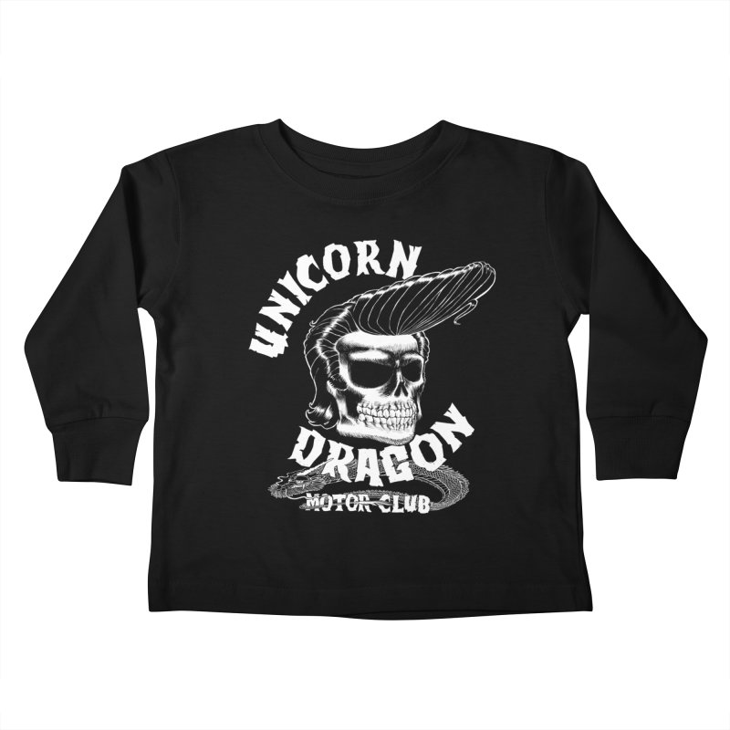 Unicorn Dragon Motor Club Kids Toddler Longsleeve T-Shirt by KINGMAKERS's Artist Shop