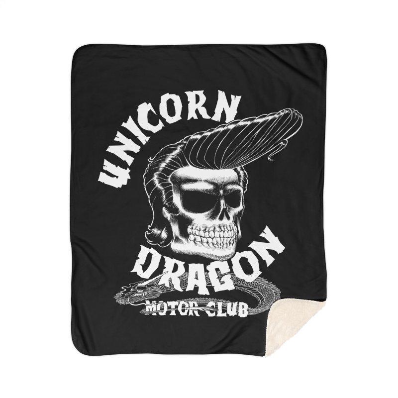 Unicorn Dragon Motor Club Home Sherpa Blanket Blanket by KINGMAKERS's Artist Shop