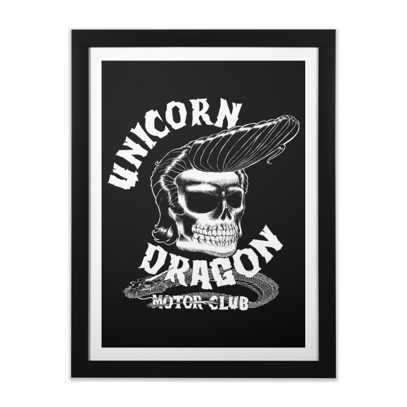 Unicorn Dragon Motor Club Home Framed Fine Art Print by KINGMAKERS's Artist Shop