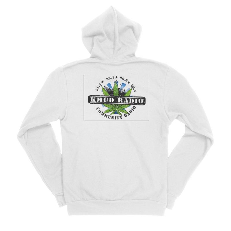 Cannabis Men's Zip-Up Hoody by Redwood Community Radio