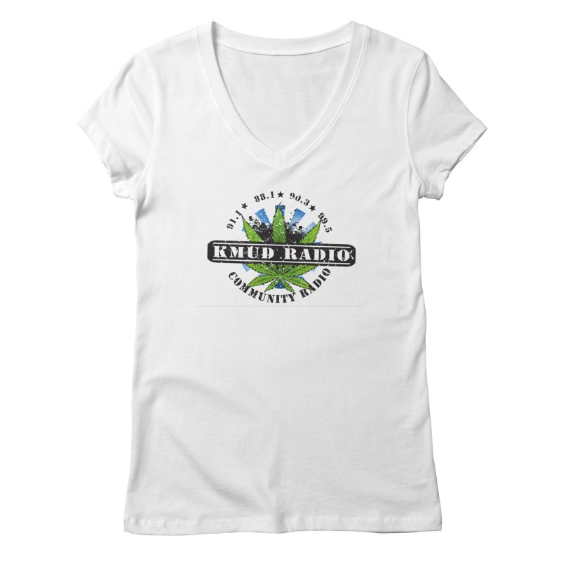 Cannabis Women's V-Neck by Redwood Community Radio